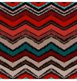 Hand drawn zigzag pattern in dark colors vector image vector image