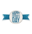 Happy Fathers Day festive Banner with blue Text vector image vector image