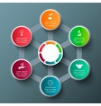 hexagon with circles for infographic vector image vector image