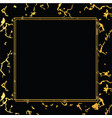 holiday background marble gold and black vector image vector image