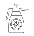 insecticide spray bottle simple gardening icon vector image