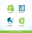 Letter logo icon set abstract circle vector image