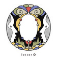letter o with mask vector image vector image