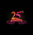 logo 25th anniversary with a circle