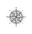 marine rose wind retro compass windrose sign vector image