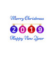 merry christmas happy new year greeting card on vector image vector image