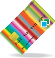 Pattern of credit card vector image vector image