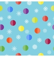 Pattern with snowflakes and balls vector image vector image