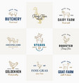 premium quality retro cattle and poultry vector image vector image