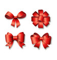 red ribbons set for gifts vector image vector image