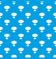 round table pattern seamless blue vector image vector image