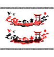 set chinese landscapes vector image vector image