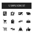 set of 12 editable business icons includes vector image