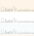 sheffield hand drawn profile skyline vector image
