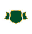 shield green icon gold outline shield simple vector image vector image