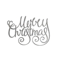 Silver handwritten inscription Merry Christmas vector image vector image
