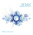 Snowflake abstract grunge background vector image vector image