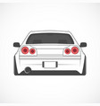 sport japan car back view vector image vector image