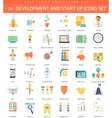 startup and development flat icon set vector image vector image