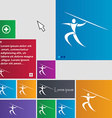 Summer sports Javelin throw icon sign buttons vector image vector image