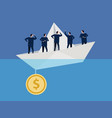 sunk cost fallacy business at problem insufficient vector image vector image