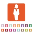 The business woman icon Avatar and user girl vector image vector image