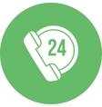 Twenty-Four Hours Call vector image