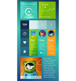 ui is a set components featuring vector image vector image