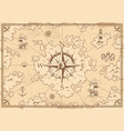 vintage monochrome treasure map concept vector image