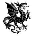 winged heraldic dragon vector image vector image