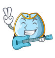 with guitar homemade baby bib of cloth cartoon vector image vector image