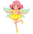 Yellow fairy vector image vector image