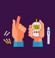 diabetes health concept high blood sugar vector image