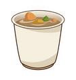 japanese soup ramen food menu restaurant vector image