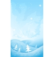 Simple winter background vector image