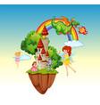 a fantasy land scene vector image vector image