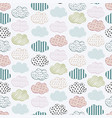 abstract seamless pattern with clouds vector image vector image
