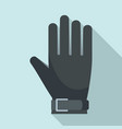 american football glove icon flat style vector image