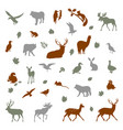 animals living in european forest vector image