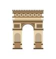 arch of triumph landmark icon vector image vector image