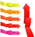 Arrow stickers vector image vector image