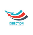 arrows direction concept logo design business vector image vector image