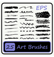 Art Brushes set vector image vector image