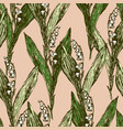 background of lilies of the valley vector image vector image