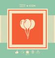 balloons symbol icon vector image vector image