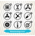 Biotechnology icons vector image vector image