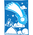 Blue Comet vector image vector image