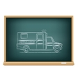 Board ambulance vector image