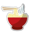Bowl of noodles icon vector image
