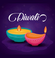 candles diwali festival isolated icon vector image vector image